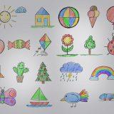 Kinder lernen Zeichnen
