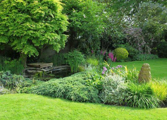 Englischer Garten selbstgemacht mit Rasen und mehr