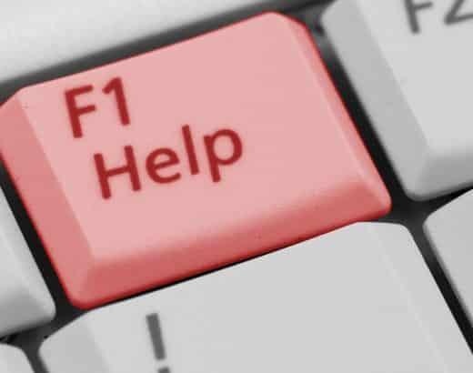 Hilfetaste symbolisch für Klickbetrug